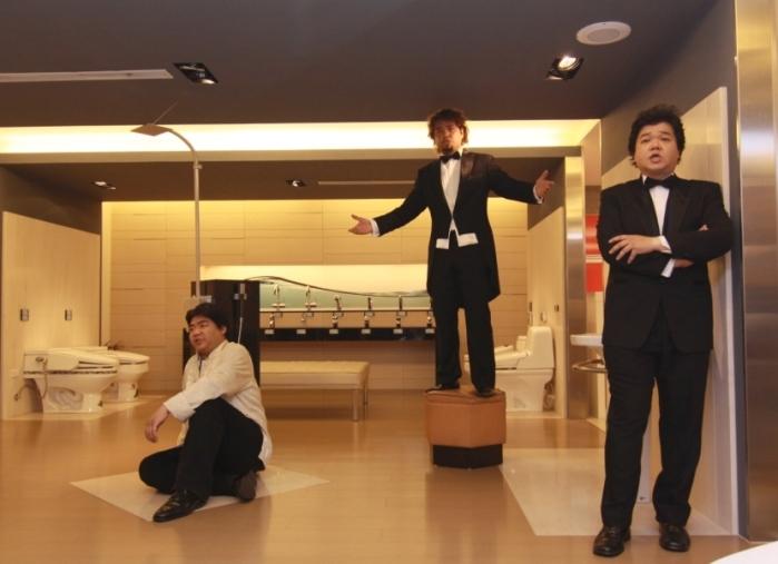 山寨版《三大男高音》美聲歌手(由左至右):孔孝誠、穆福淳、張耀文。(台北愛樂提供)