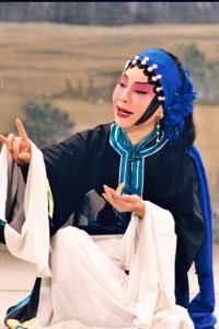 廖瓊枝的王寶釧扮相(台北市立國樂團提供)