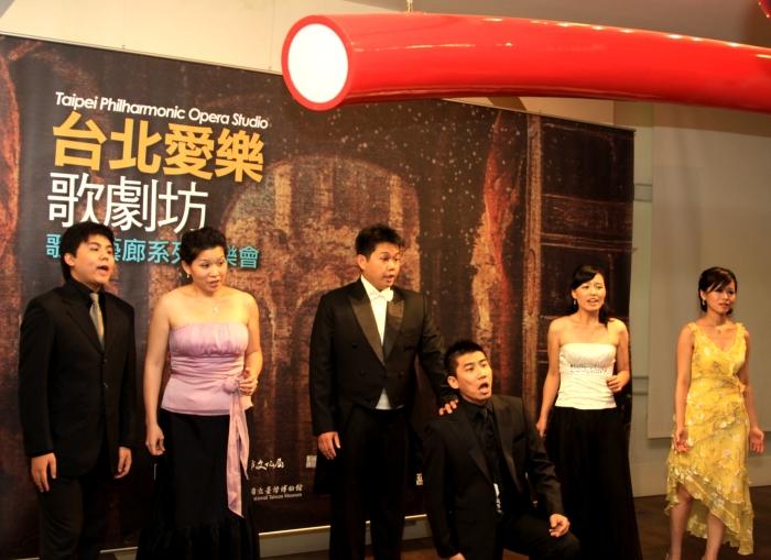 當代藝術館的歌劇坊音樂會照片(台北愛樂歌劇坊提供)