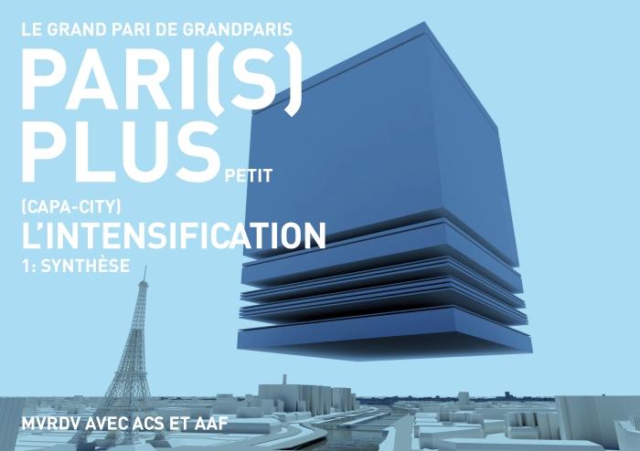 MVRDV受法國總統薩克奇邀約參與的「Grand Paris」大巴黎20年發展計畫。此計畫預計於2030年將巴黎建設成最具可持續性特色的大都會,MVRDV則將未來因應日趨緊密的都市空間需求,轉化為一個巨型的方塊漂浮於巴黎市上方,分裂成26個可行的都市規劃提案,讓巴黎轉變為歐洲經濟最緊密、最適合人居住的大都會。