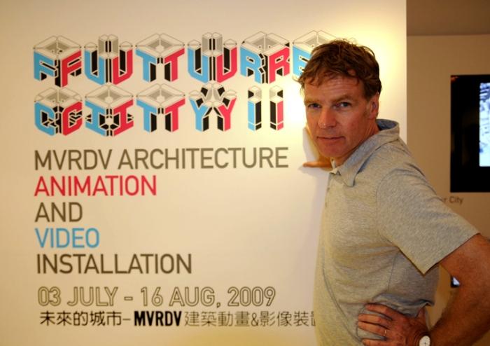 MVRDV首席建築師Winy Maas應忠泰建築文化藝術基金會邀約來台發表演說