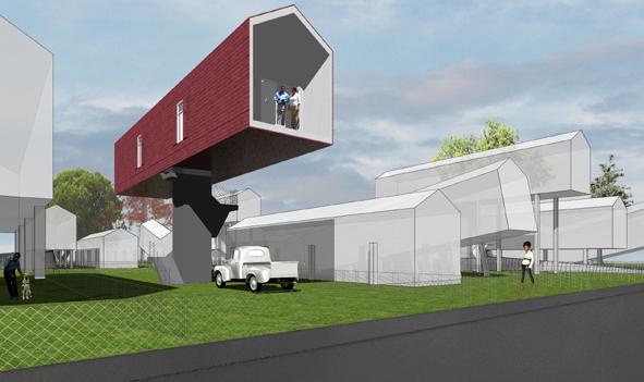 MVRDV受荷蘭建築學會、Tulane University、以及Artforum 雜誌之邀,為深受嚴重淹水之苦的紐奧良所提出的重建計畫。MVRDV設計了一套可以將房子推高的設備,只要房子架高就能免受淹水。所有的重建計畫皆集結於「Newer Orleans—A Shared Space」(更新的紐奧良:一個共享的地方)展覽中展出。