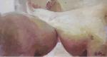 黃沛涵 小小肉(三) 壓克力稿 紙上壓克力 54.5cmx29.5cm 2006
