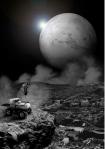 郭奕臣 倖存者系列33.5°N,35.3°E 雷射輸出、鋁板裱褙 110x78cm 2007 2/8  100,000