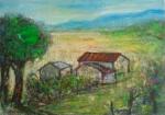 鍾奕華 回歸家園 壓克力顏料 91x65.5cm 30F 2009
