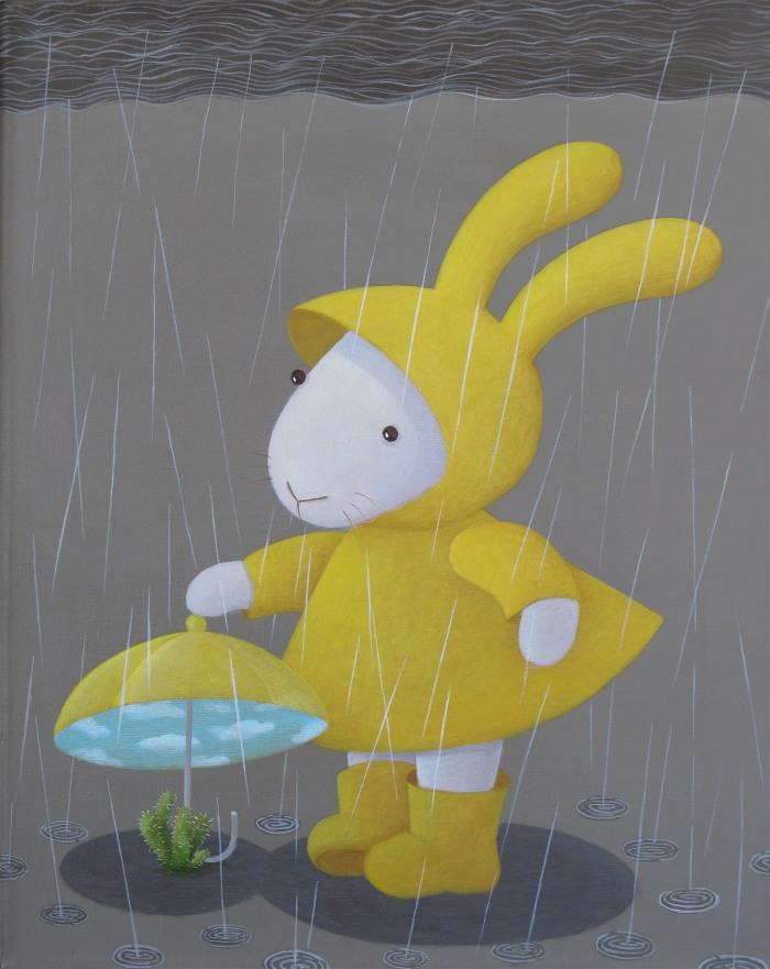 雨天變化-仙人掌 誠品畫廊提供