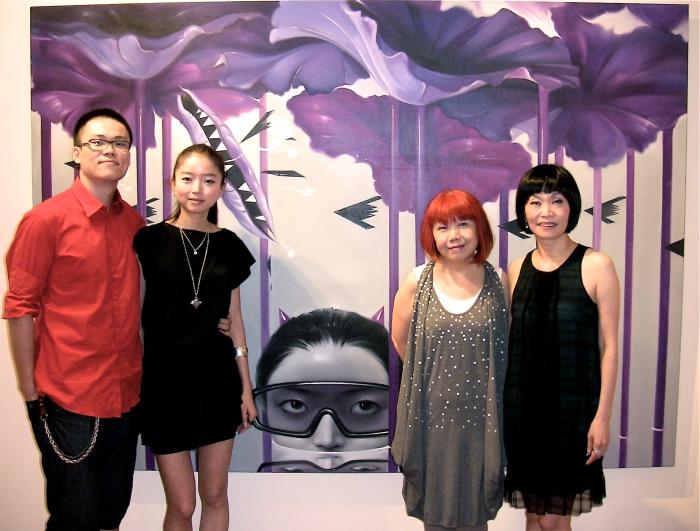 藝術家穆磊與楊納、童話寓言策展人陸蓉之、形而上畫廊負責人黃慈美