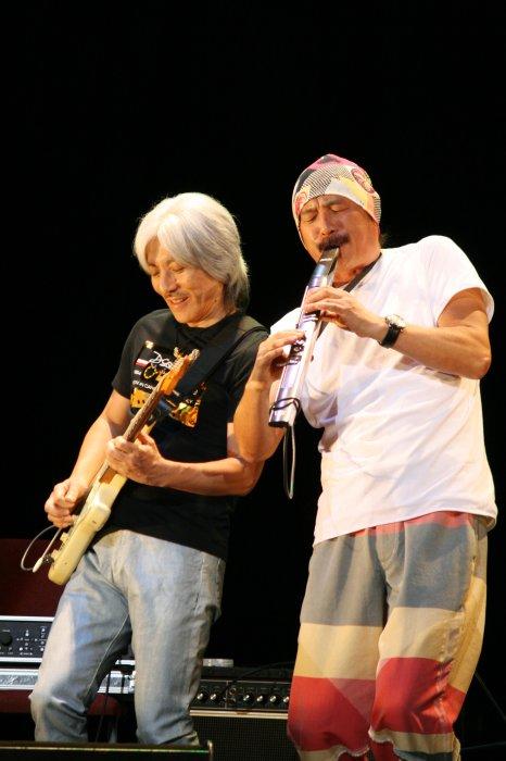 T-Square方格子樂團薩克斯風手伊東毅與創團吉他手安藤正容排練演出照(兩廳院提供)
