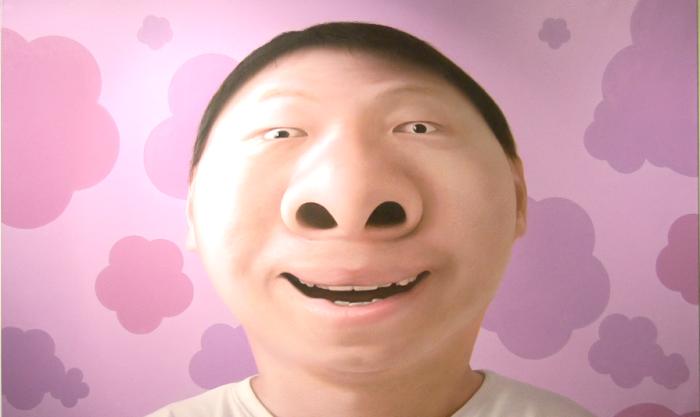 盧昉作品《大鼻子先生-樂》 (林筱穎攝)