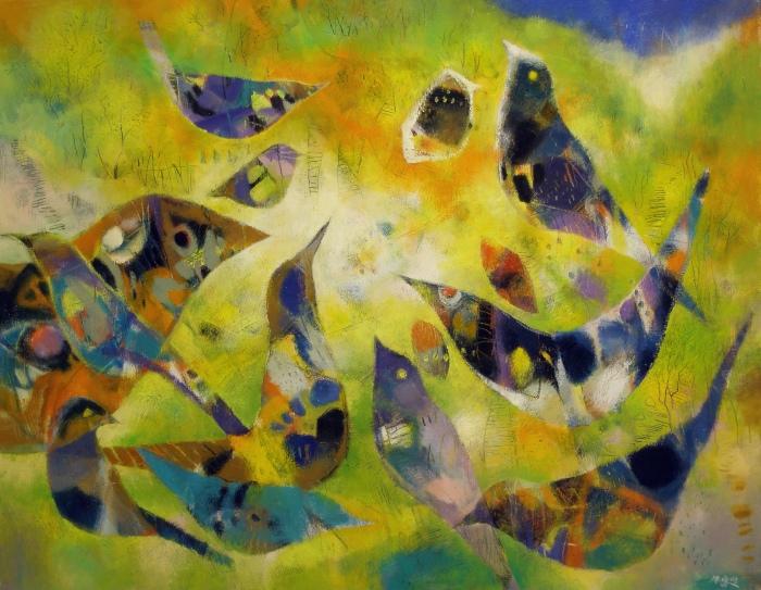 張培均《清晨的合鳴》50F 油畫 2009